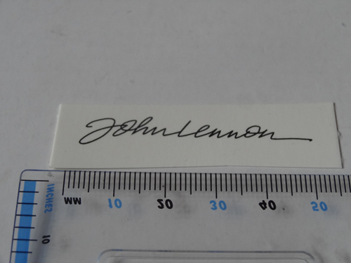 John Lennon Waterslide Decal